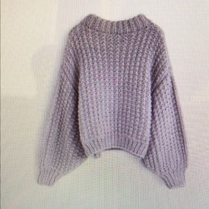 Chicwish Sweaters - Chicwish lavender sweater